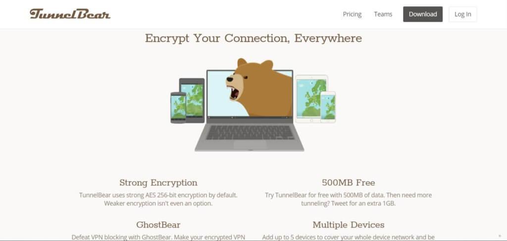 TunnelBear VPN на компьютер