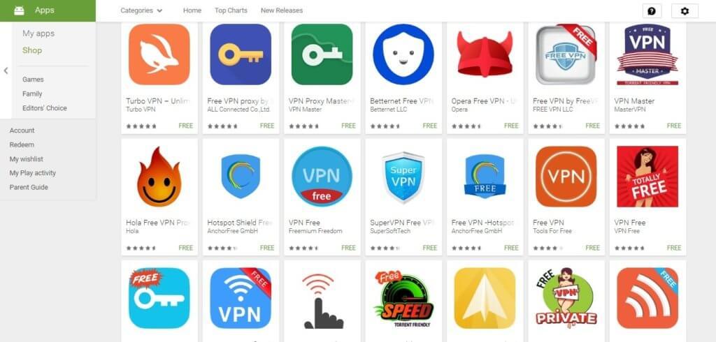 Мобильные VPN сервисы на Андроид