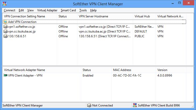 Client VPN Manager на ПК