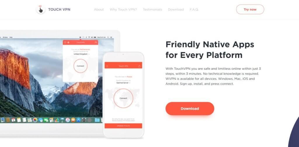 Touch VPN для яндекс браузера