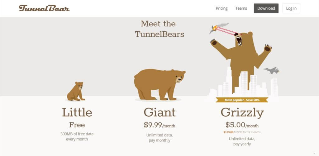 TunnelBear VPN для Яндекс.Браузера
