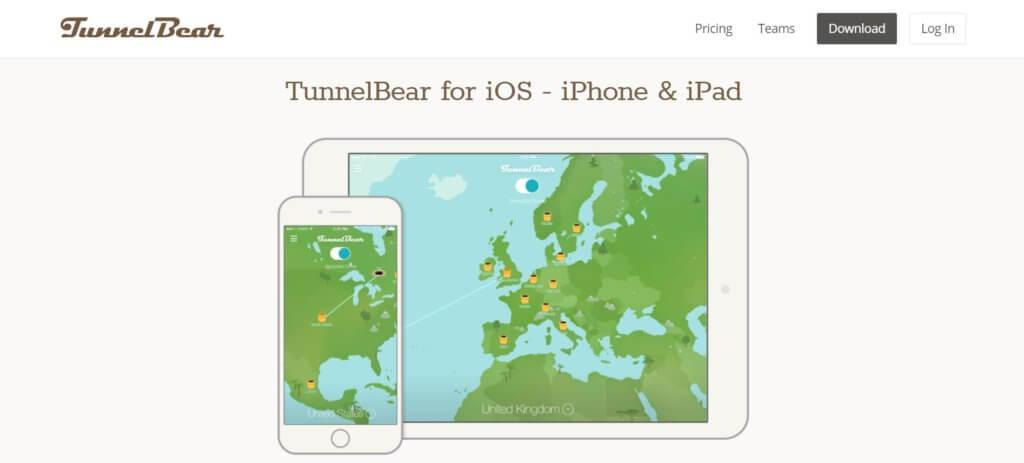TunnelBear для Айфона